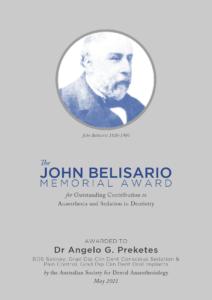 Proof John Belisario Plaque